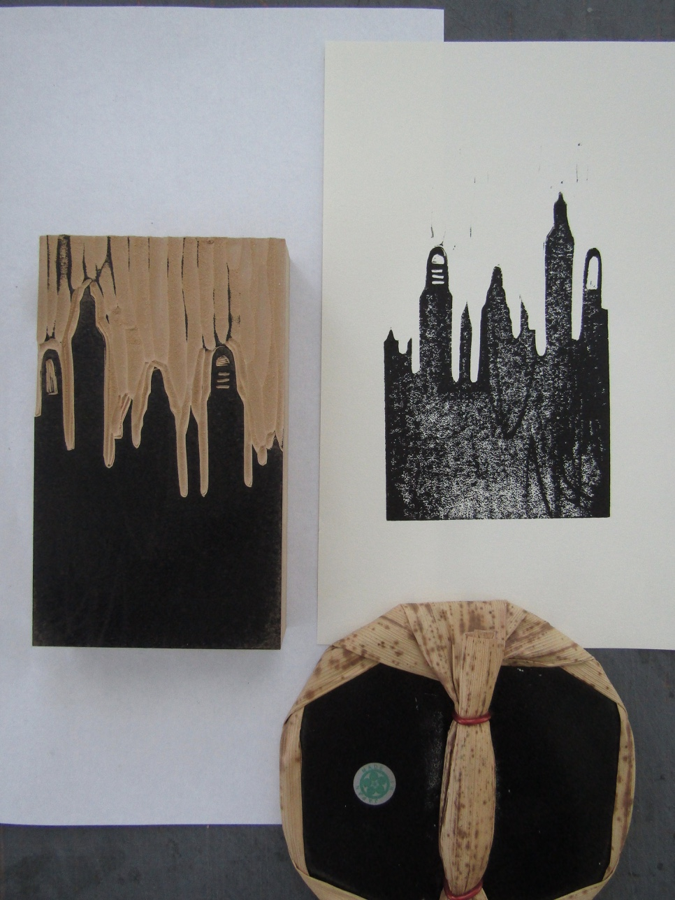 This is a proof of a third block of a skyline. I used this to represent the concept of 'ruins'.