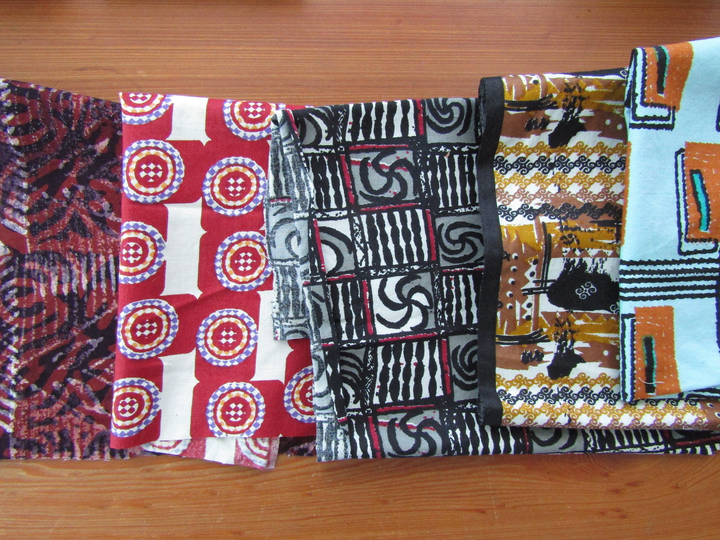 Fabrics from Ghana, purchased in 2013 while travelling there.