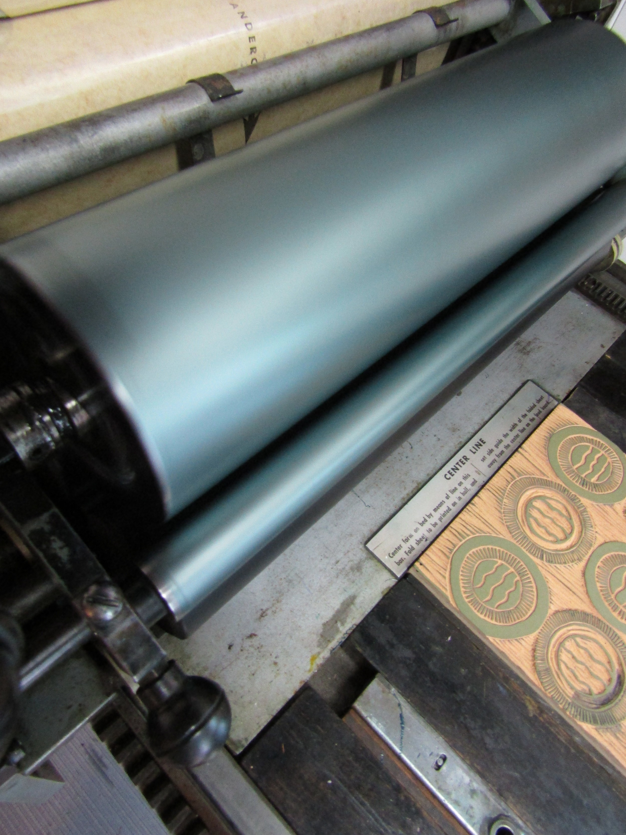 I so love the look of my press inked up and printing1