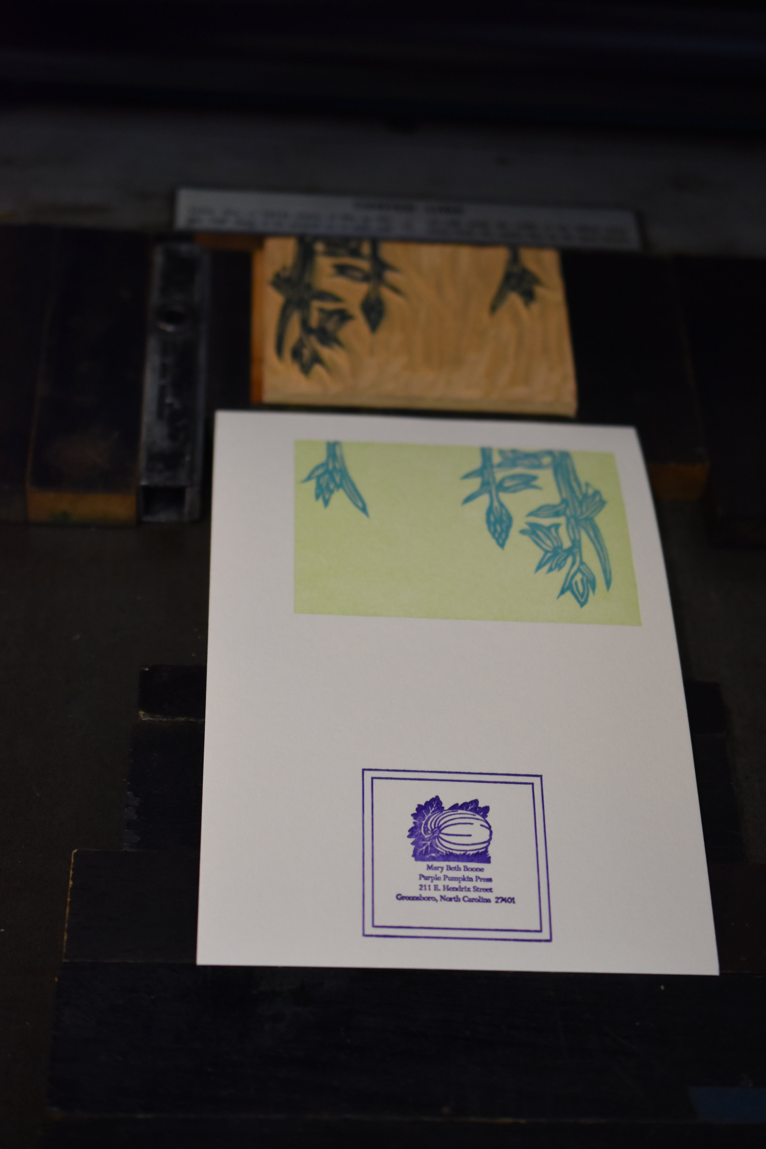 Printing the bluebells.