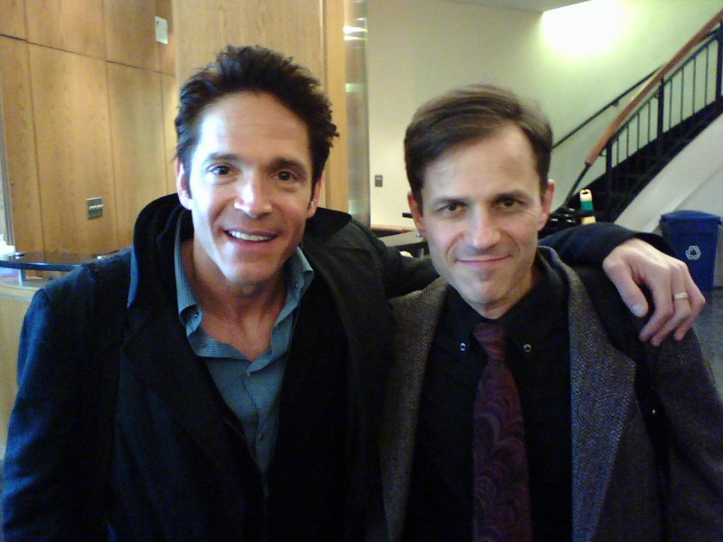 Co-hosting a clinic for Dave Koz at Berklee College of Music, Boston, MA