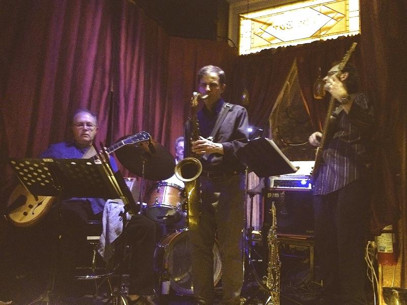 At Chloe in Hudson, MA (L to R: Dennis Kistler, Gil Graham, Jeff Harrington, Zdenek Kansky)