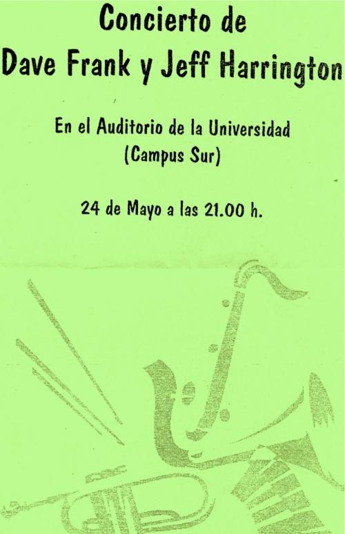 Dave Frank / Jeff Harrington Quartet at the University of Santiago de Compostela, Spain