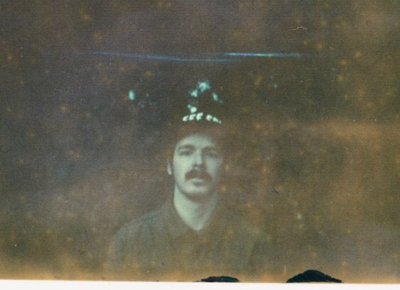 Expired Polaroid of myself by my  wife .