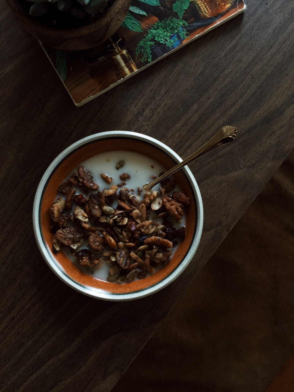 Enjoyed some of my homemade granola this morning