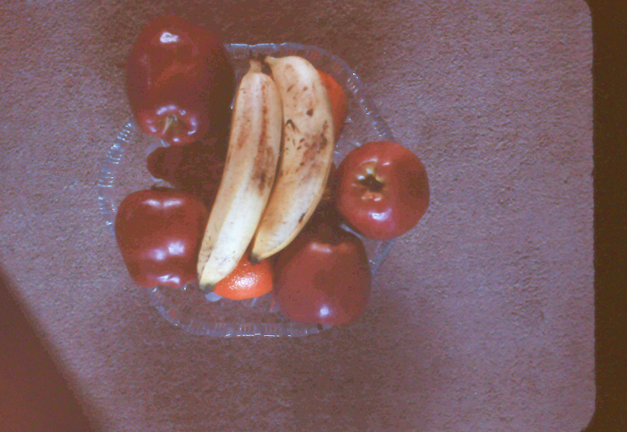 Bowl of Fruit, taken sometime in the 1950's.   By my grandpa Frank Miller.