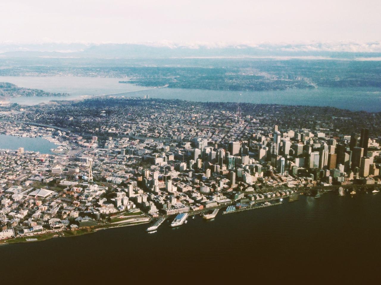 Seattle below the clouds
