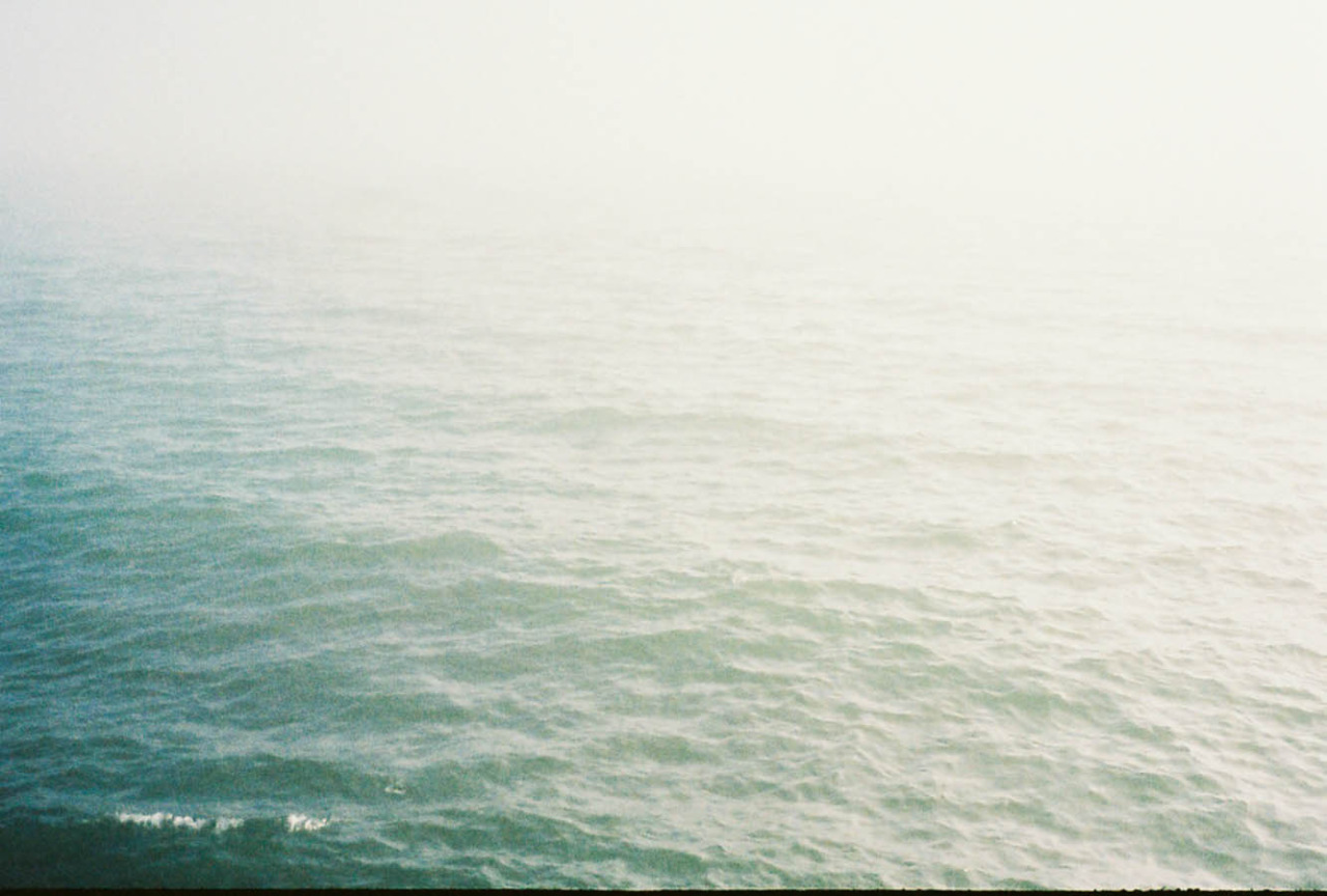 Foggy day on the water.