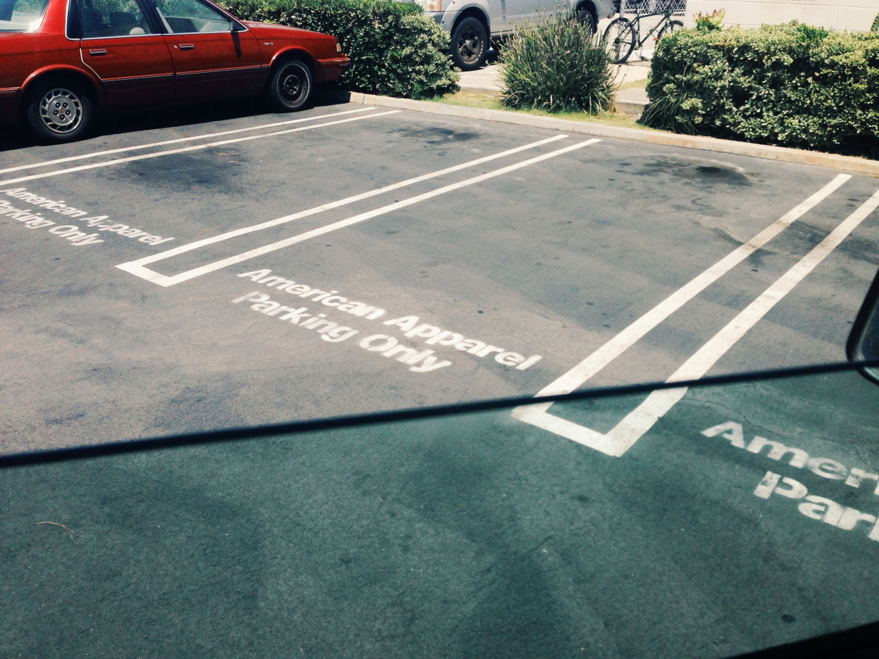 American apparel parking only.