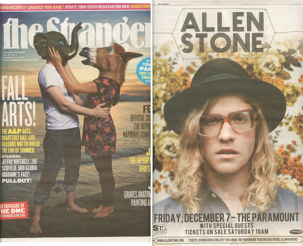 One of my shots of  Allen Stone  in the September issue of  The Stranger .