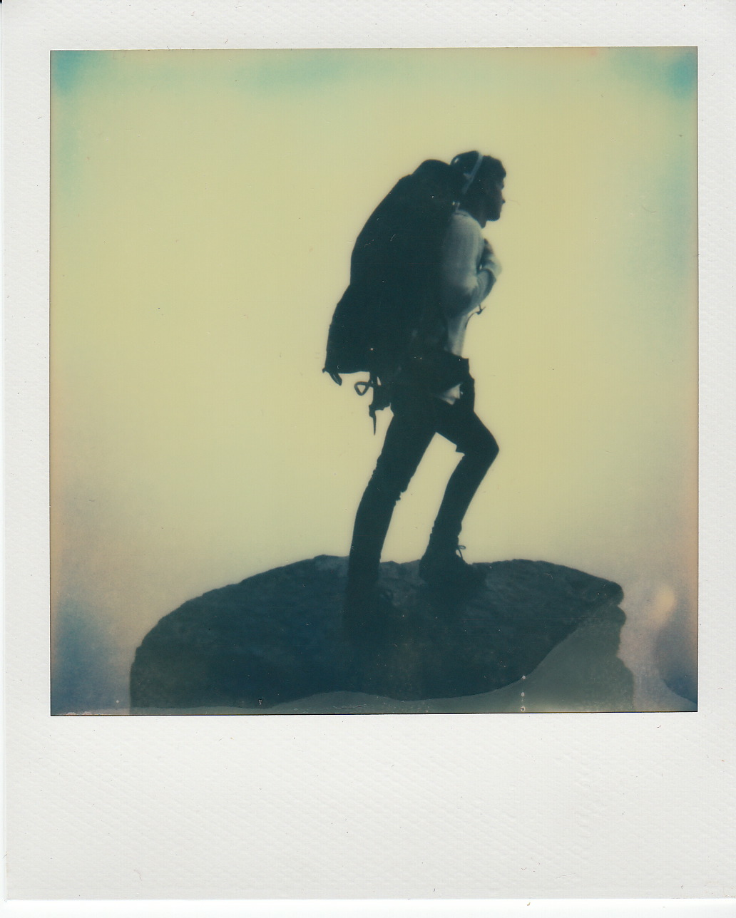 ©   Lonnie Webb    A polaroid of my friend Caleb during our hike last Saturday