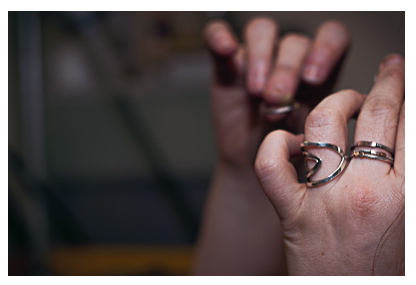 Image of Sharon's hands at work-image by Noelle Trinidad