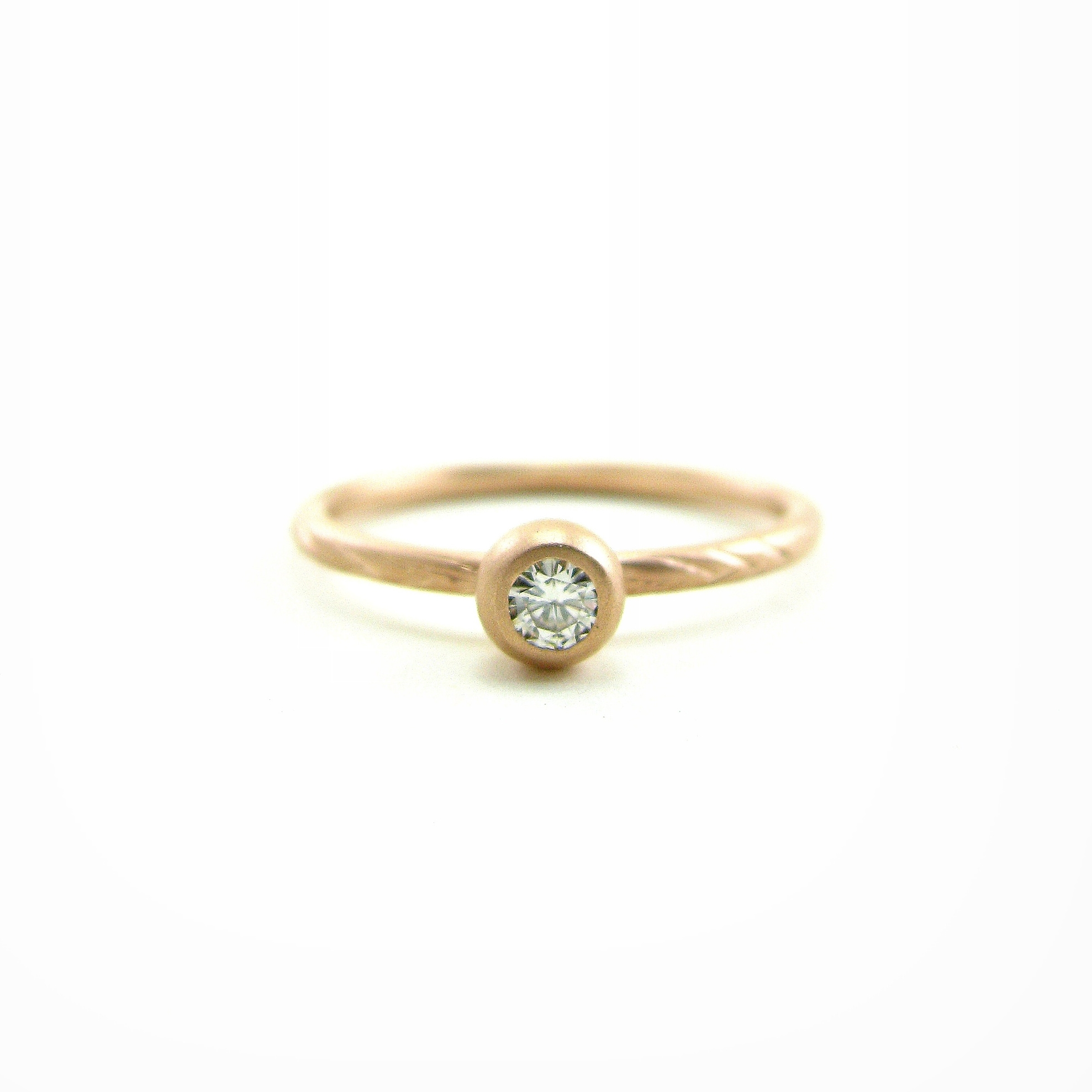 Rose Gold and Recycled Diamond Engagement Ring - $840