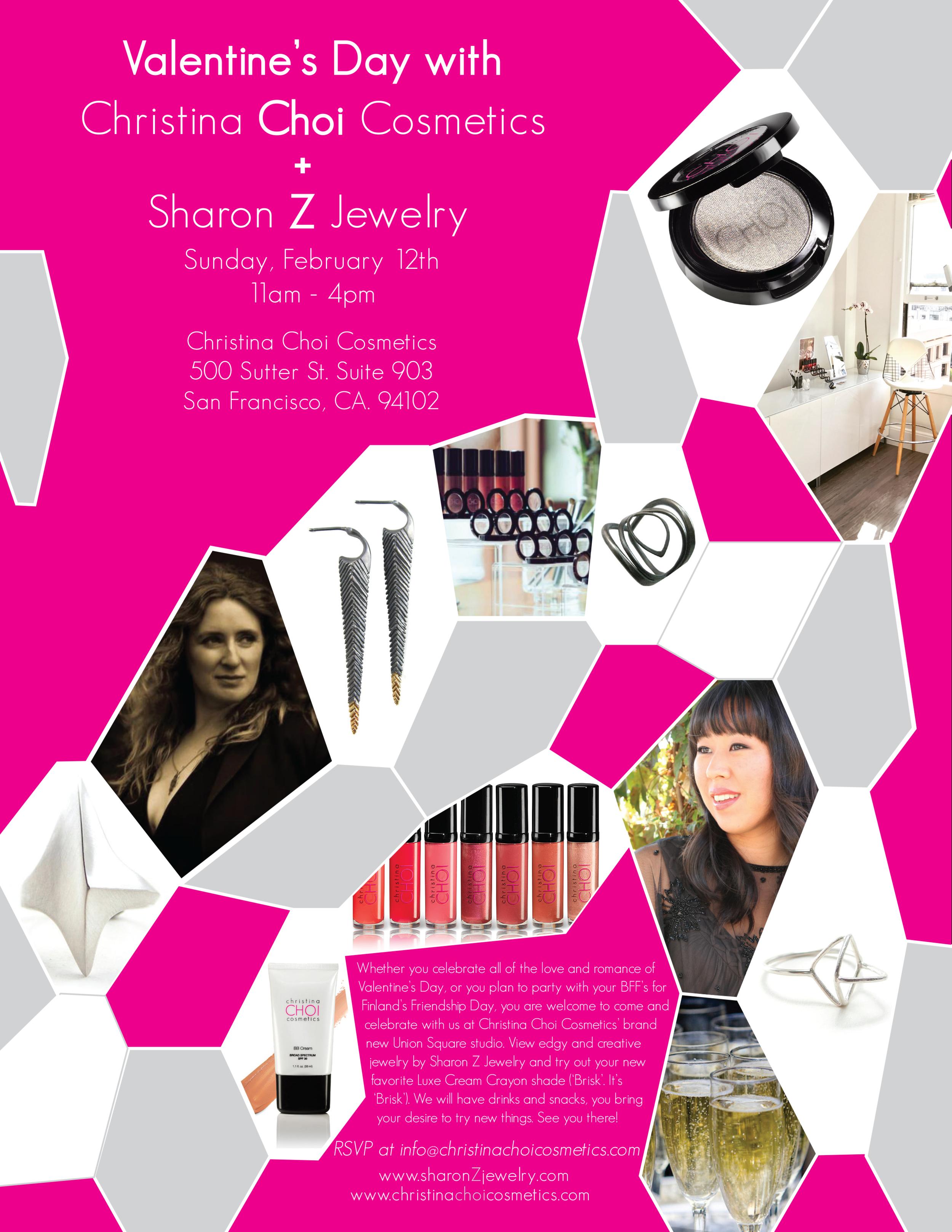 Valentine's Day at Christina Choi Cosmetics with Sharon Z Jewelry