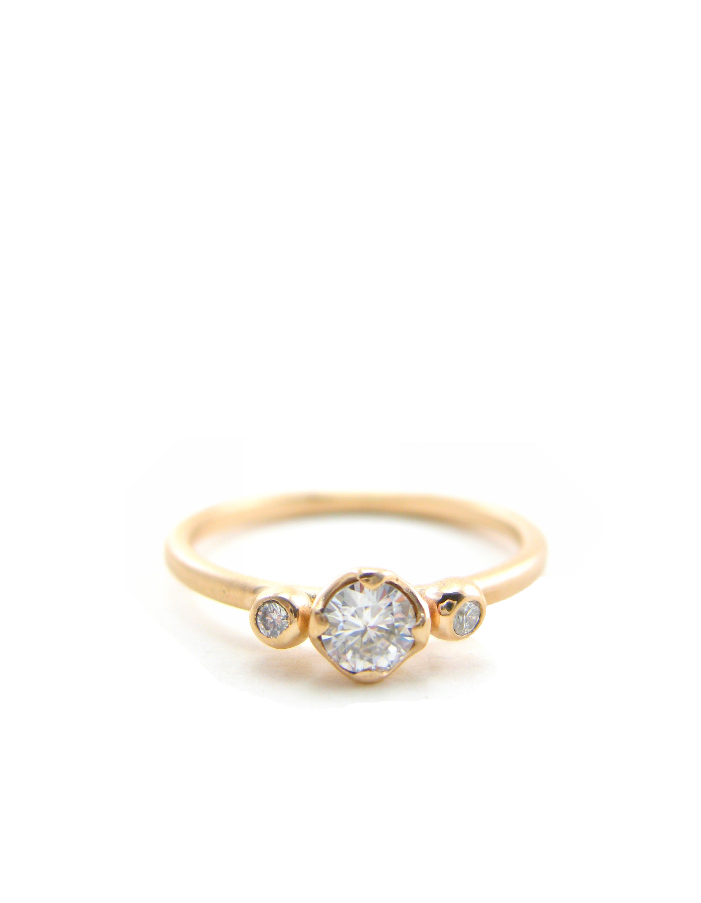 Empress Scepter Moissanite engagement ring in recycled 14 karat gold