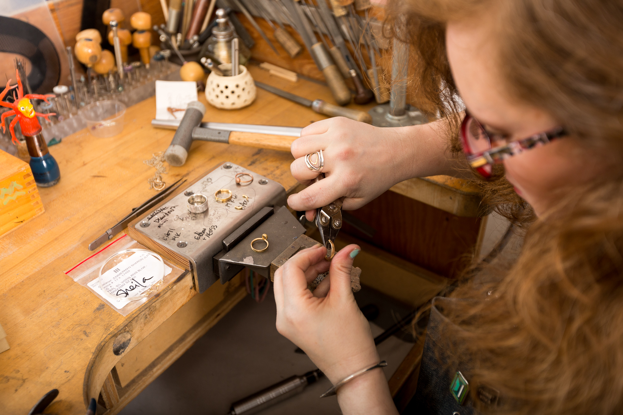 Take a private jewelry Class with Sharon Zimmerman - Image credit Ryan Leggett