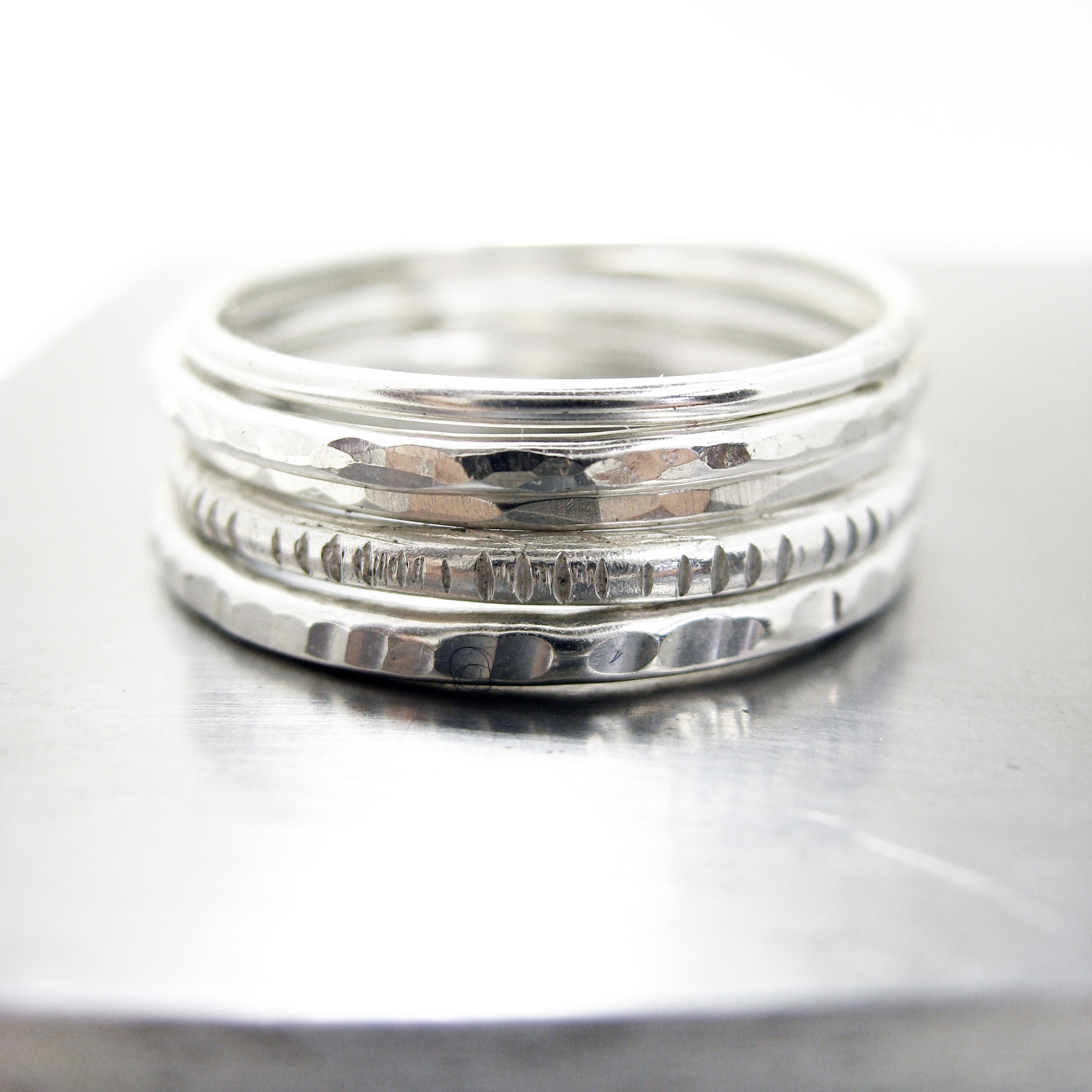 All Sterling Silver Stacking RIngs  - Stacking Ring Workshop - Jewlery Lessons San Francisco - Sharon Z Jewelry.jpg