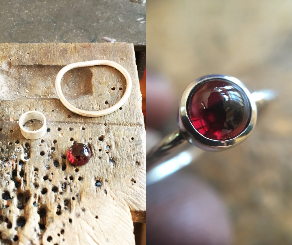 garnet ring for bezel setting class.jpg