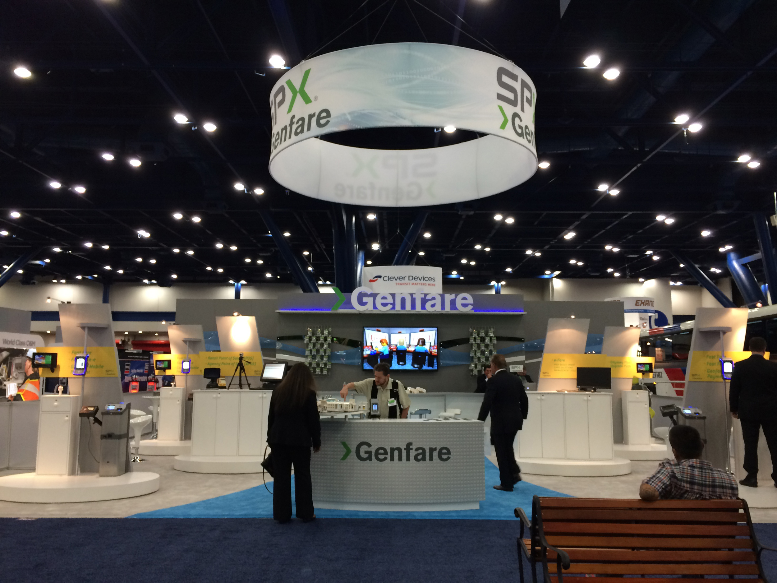 Custom island trade show exhibit for the Transportation Show