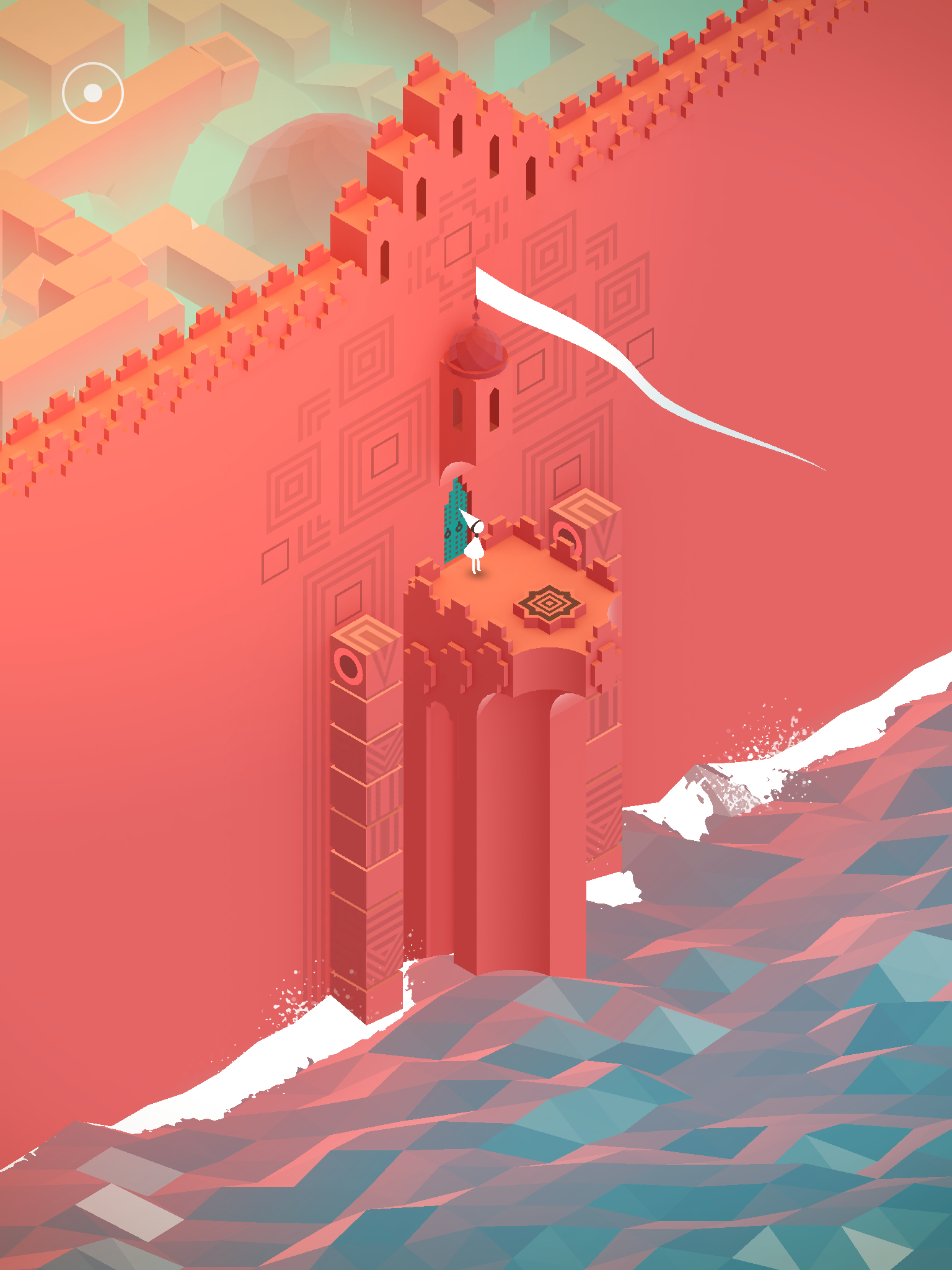 Isometric / flat perspective, cell shading, bright colors, low-poly, water visualization