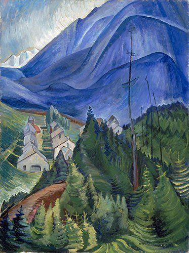 These Emily Carr pieces are some great examples of how to imply detail and create a mood through shape and composition