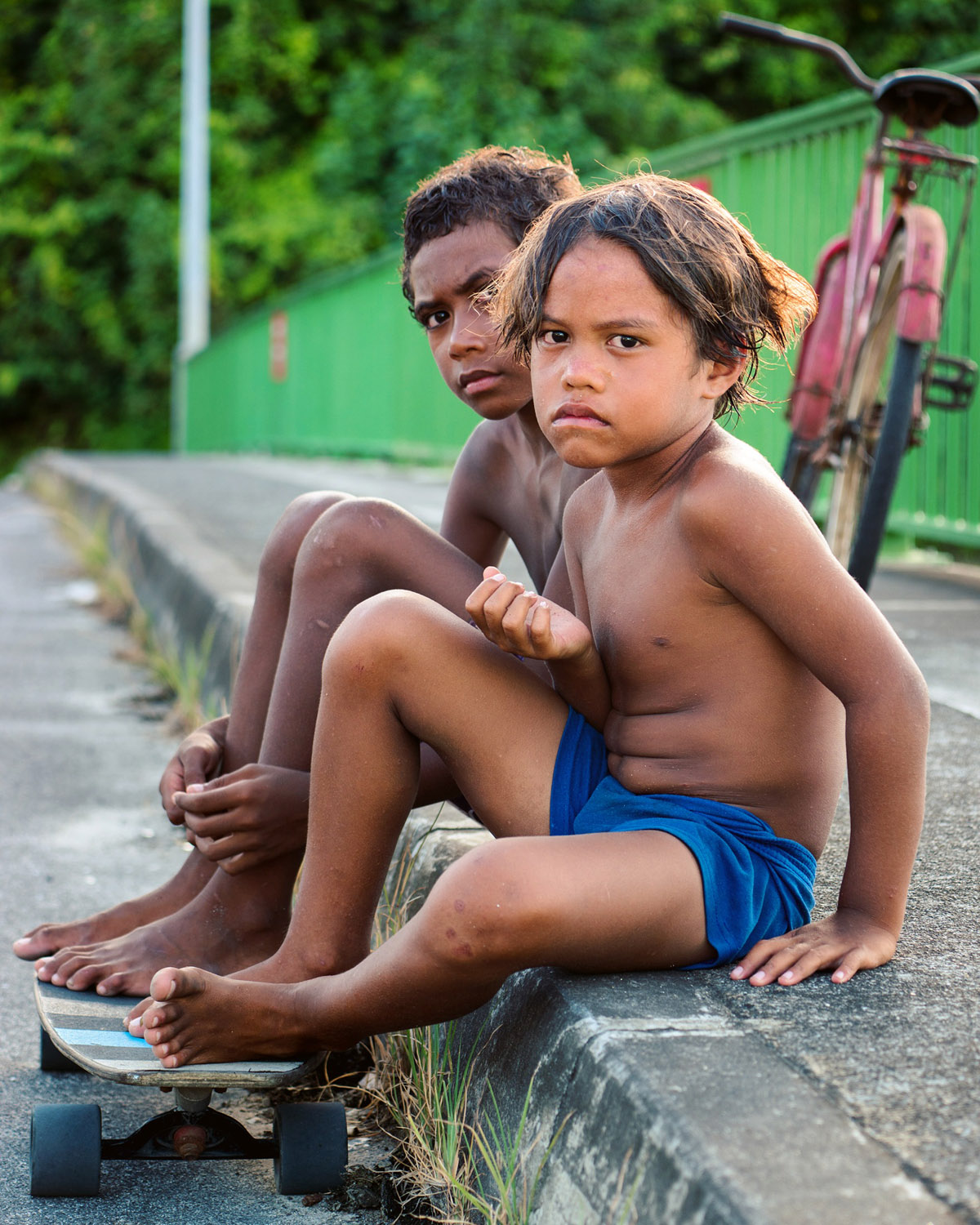 Young 'rebels' on Huahine, French Polynesia