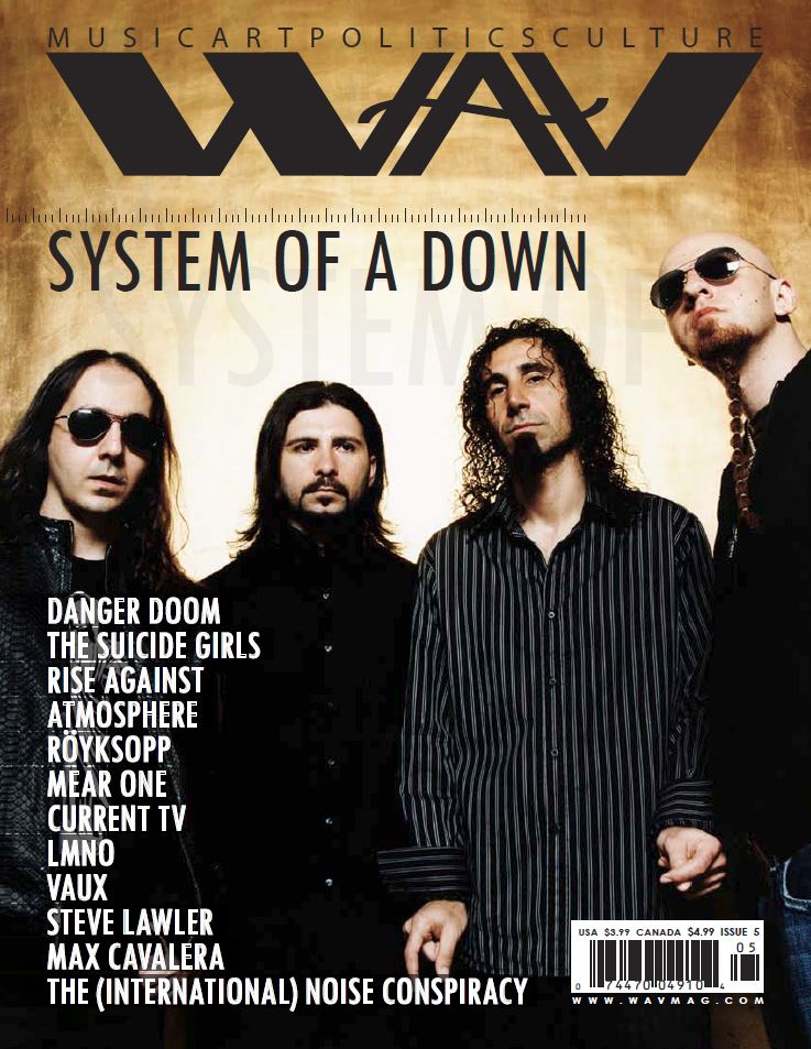 WAV Kotori Magazine Issue 5 System of a Down Danger Doom The Suicide Girls Rise Against Atmosphere Royksopp Mear One LMNO Vaux Steve Lawler Max Cavalera The International Noise Conspiracy