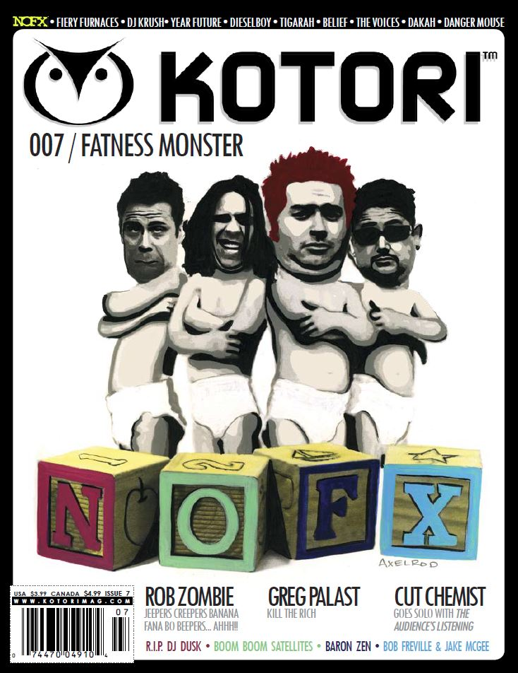 WAV Kotori Magazine Issue 7 - NOFX / Rob Zombie / Greg Palast / Cut Chemist / DJ Krush / Dieselboy / Tigarah / The Voices / Danger Mouse