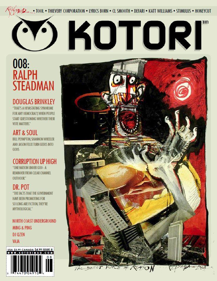 WAV Kotori Magazine Issue 8 - Ralph Steadman / Tool / Thievery Corporation / Lyrics Born / CL Smooth / Defari / Katt Williams / Stimulus / Douglas Brinkley / Vaja / Ming & Ping