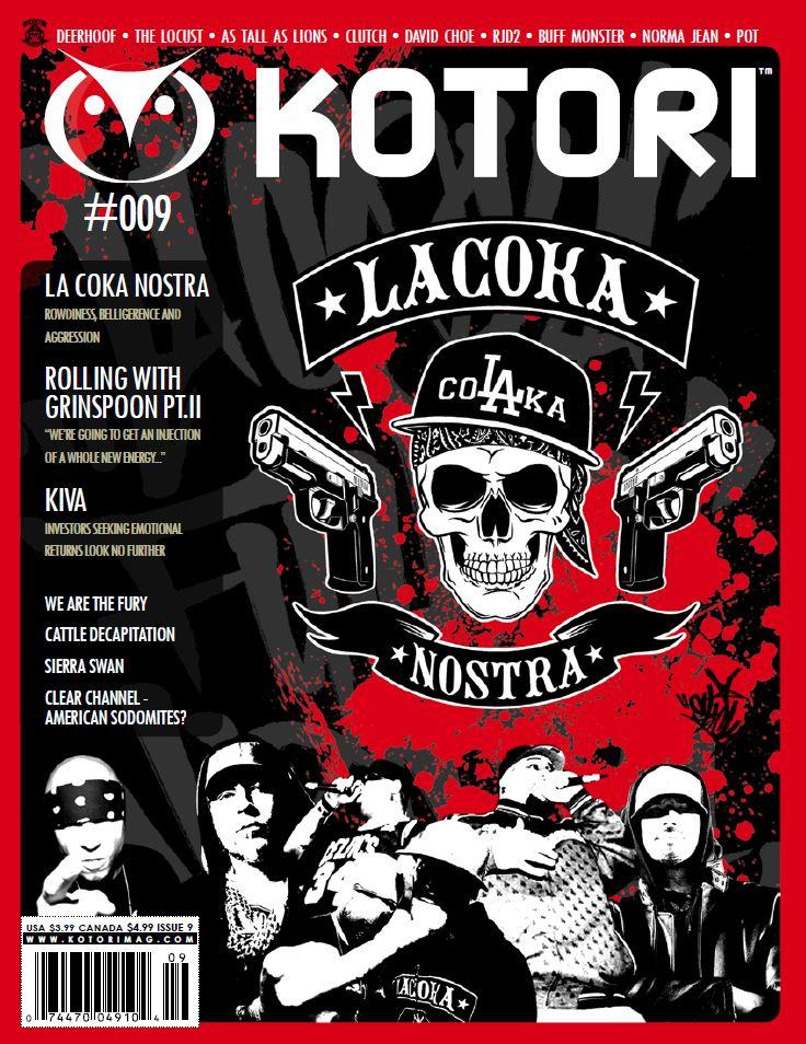 WAV Kotori Magazine Issue 9 - La Coka Nostra / Dr Grinspoon / Kiva / Deerhoof / The Locust / As Tall As Lions / Clutch / David Choe / RJD2 / Norma Jean / We Are The Fury