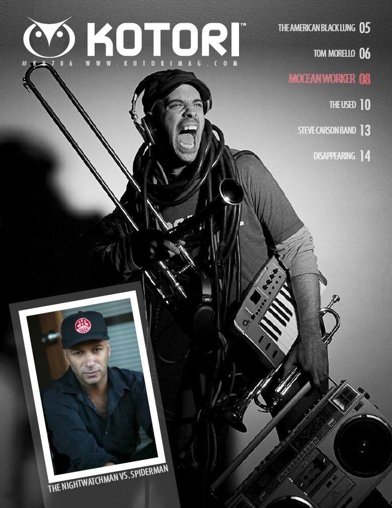 WAV Kotori Magazine Blast 4 Mocean Worker The American Black Lung Tom Morello The Nightwatchman The Used Steve Carson Band.JPG
