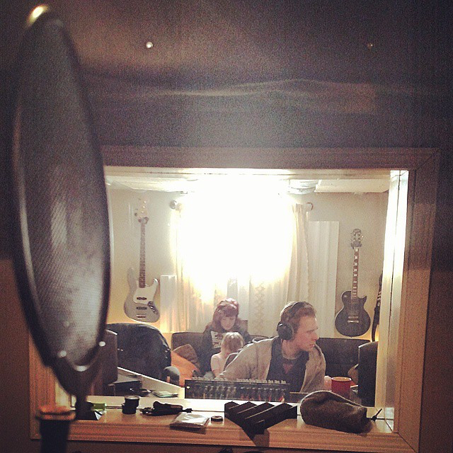 View from the vocal booth.  Recording  Better Days  at  Hey Charlie Studios .