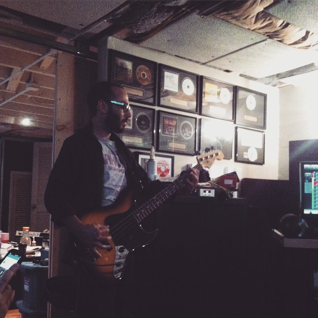 Mac killin' it.  Recording  Better Days at  Hey Charlie Studios .
