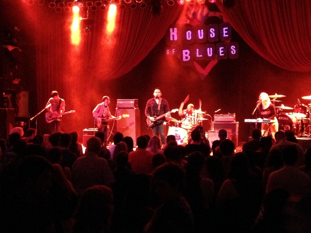 House of Blues, Chicago, IL, May 2015.Opening for Highly Suspect.  Thanks to Joe Martin!