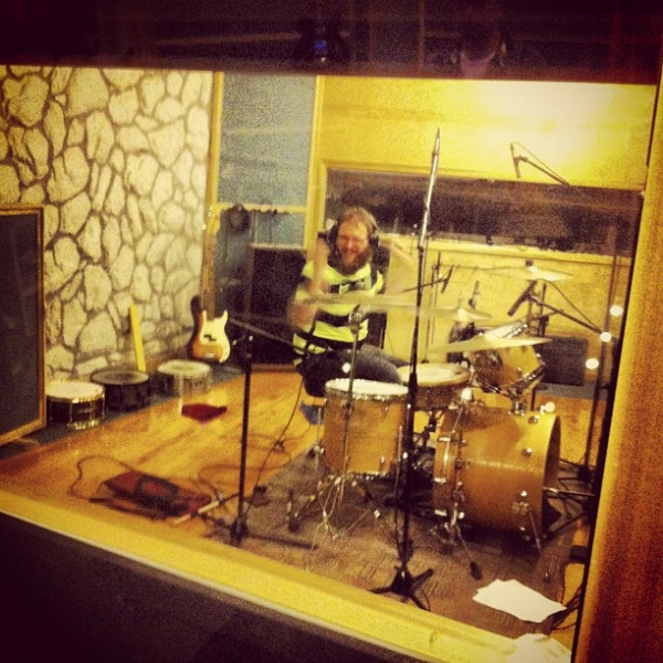 Mike likes drumming.  Recording  A Harm Deep But Shining  with  The Jungle AE.