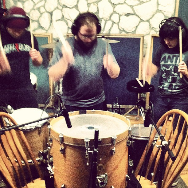 "Percussion overdubs for ""Casino"" at Miller Street Studios.  Recording  A Harm Deep But Shining  with  The Jungle AE."