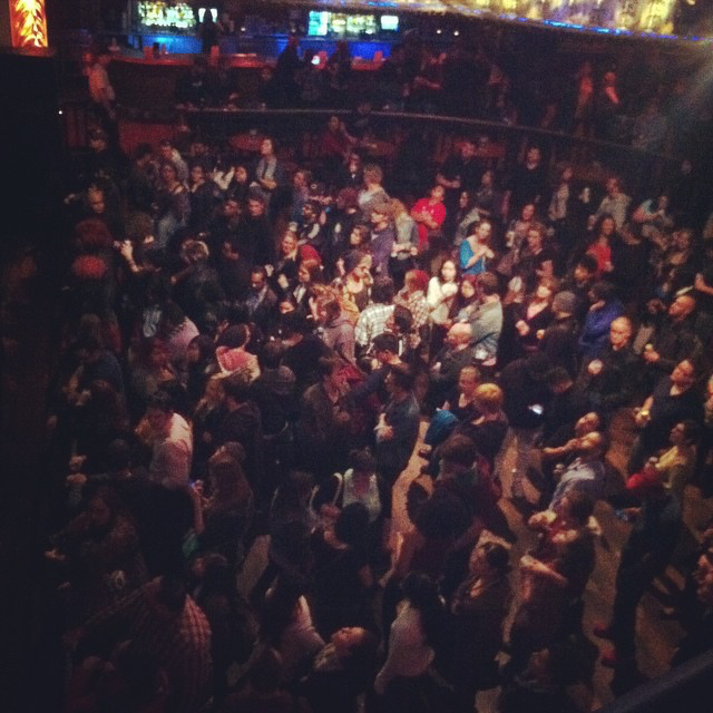 The crowd before our first show at the House of Blues.  Fall 2014