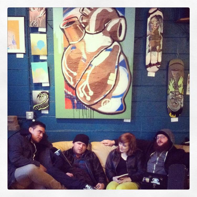 Acoustic set at Ugly Mug Cafe in Ypsilanti, MI before playing at Woodruff's.  Winter 2013
