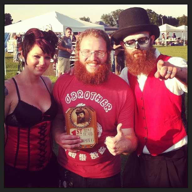 Best Beard at Freakshow Fest in Clio, MI!  Summer 2013