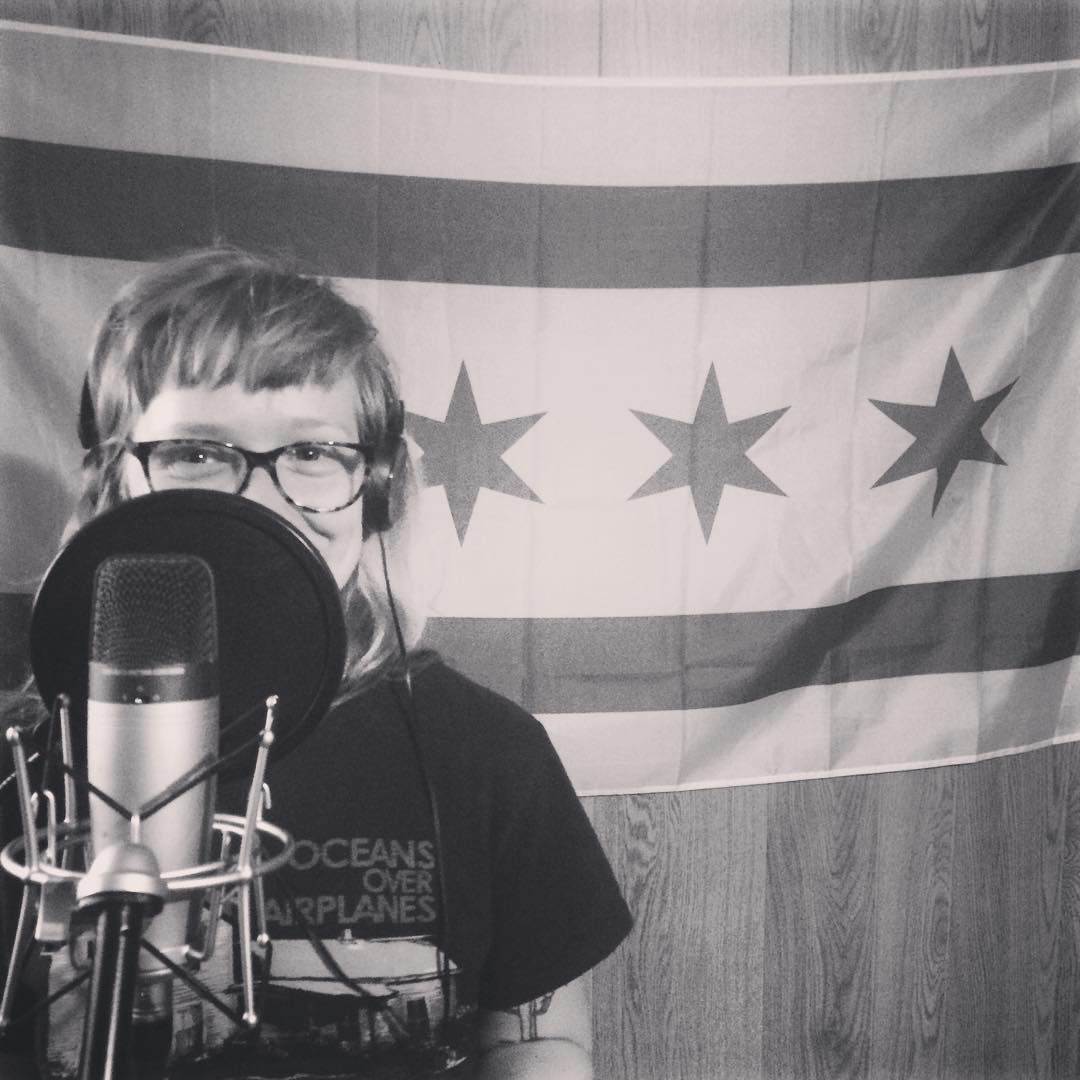"""I look like a dirty little kid.""  Recording  The Flips / Pelafina  split EP."