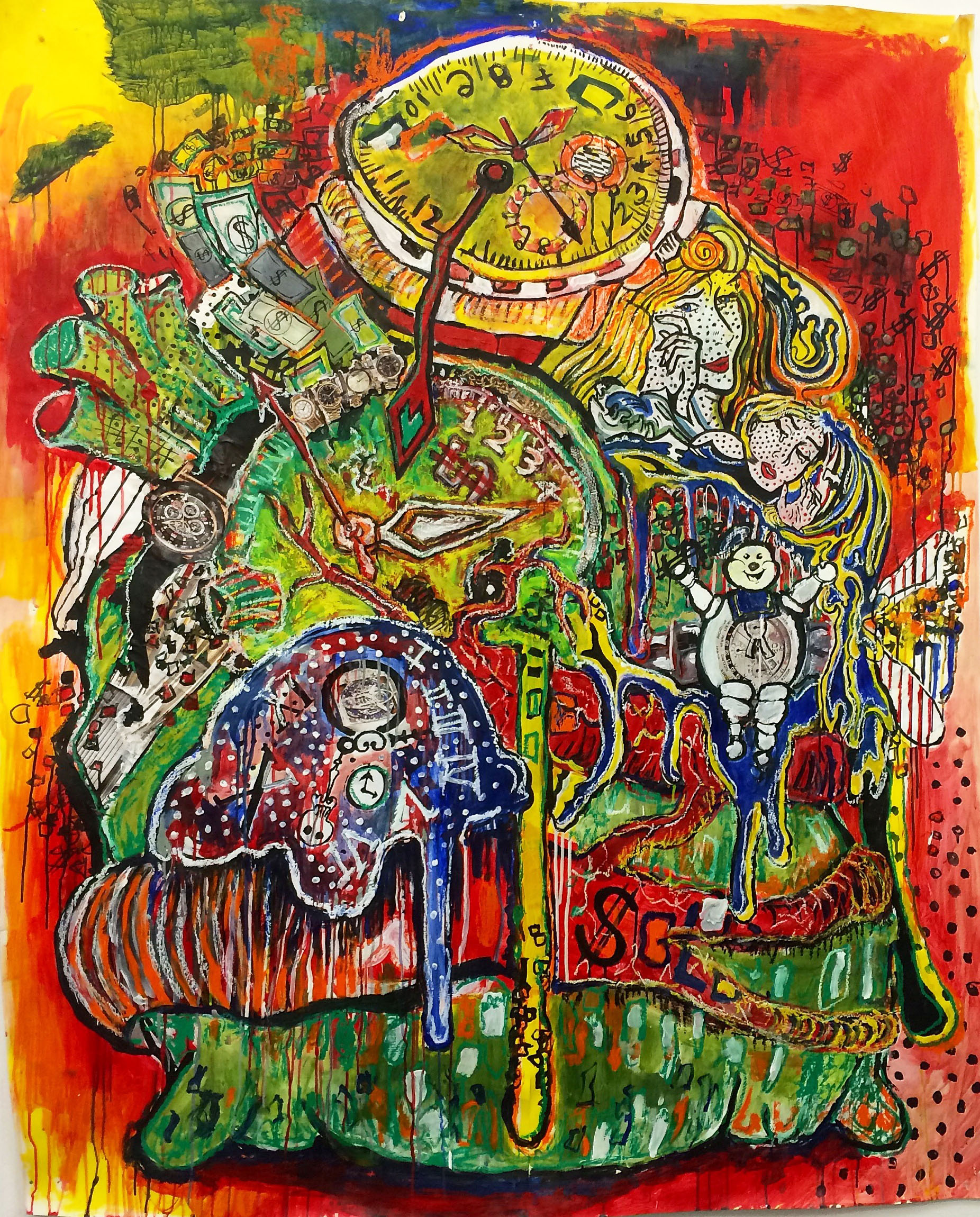 The American Dream (2/2) - 6' X 4' - Mixed Media on Paper - For Sale - Price Upon Request