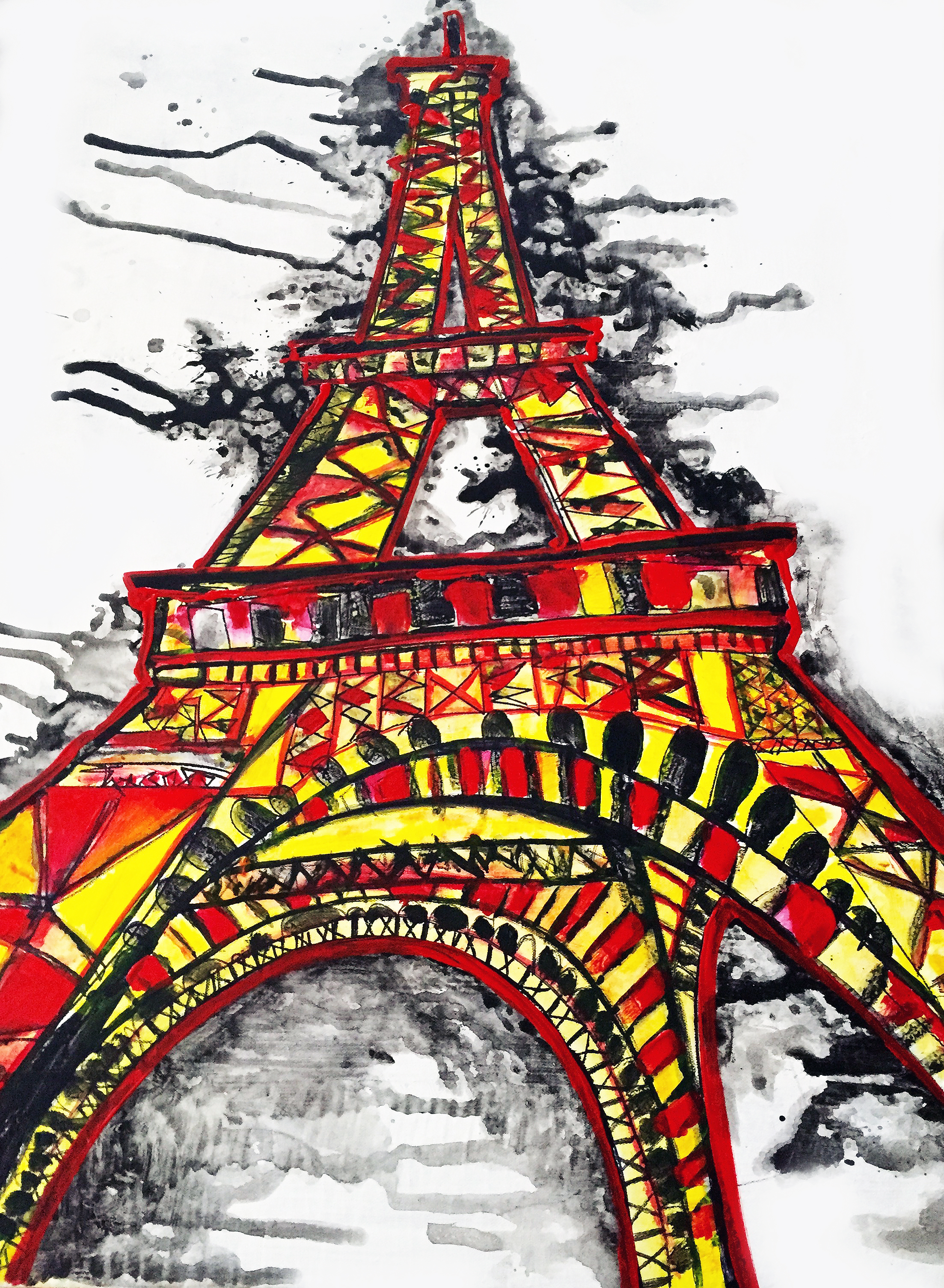 STAND STRONG, PARIS - AUCTIONED OFF FOR THE RED CROSS FOUNDATION FOR THE PARIS ATTACKS