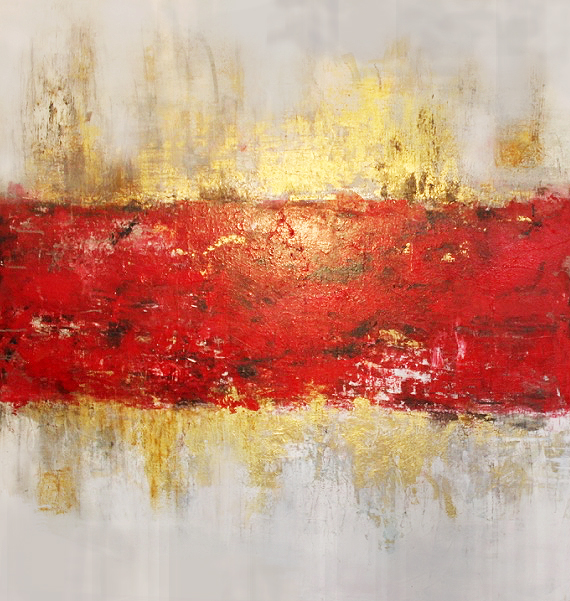 That Red Track - Mixed Media on canvas - 5' X 5' - 2016