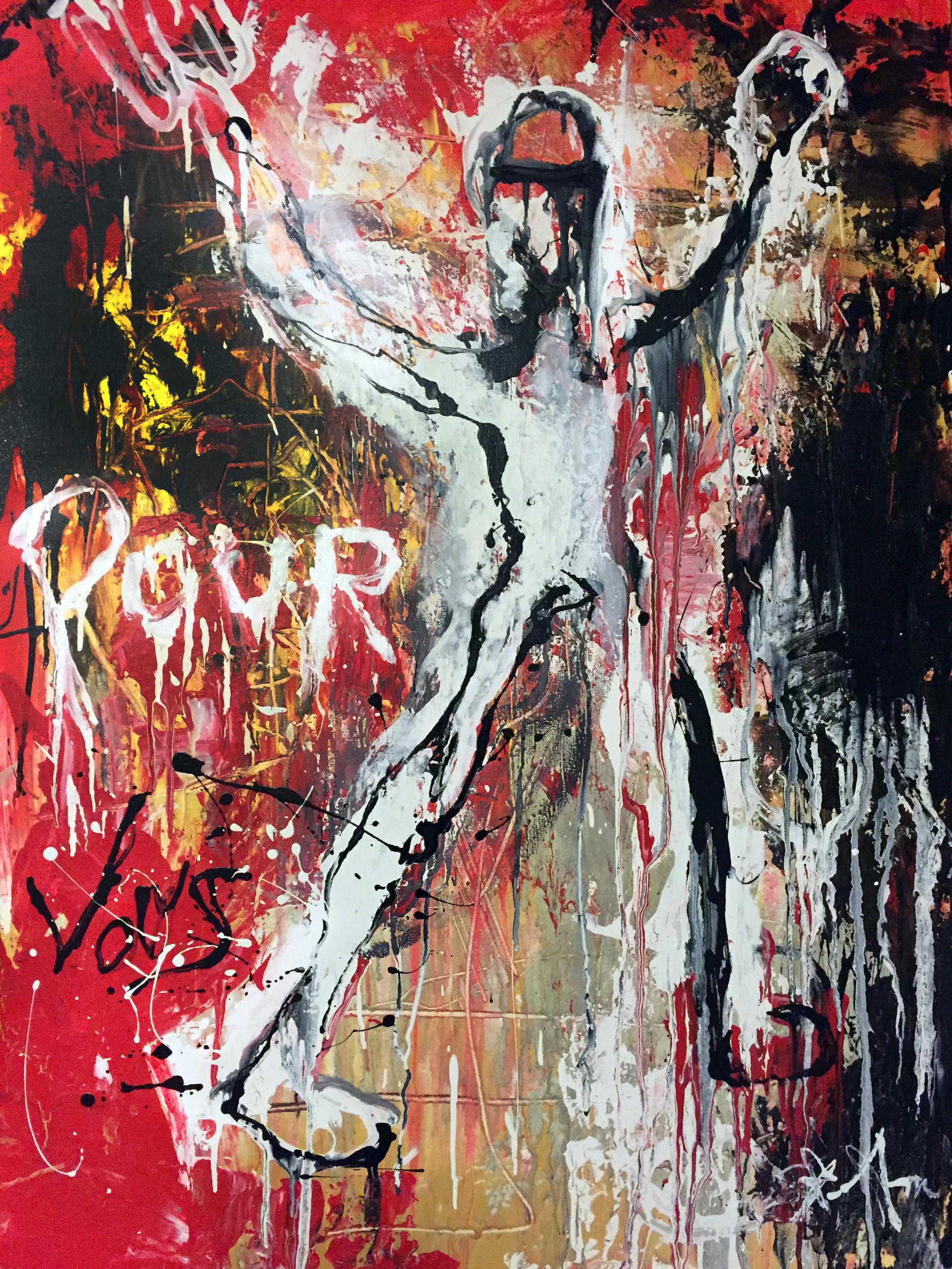 """""""Pour Vous"""" - Acrylic on canvas 40"""" X 30"""" - 2016"""