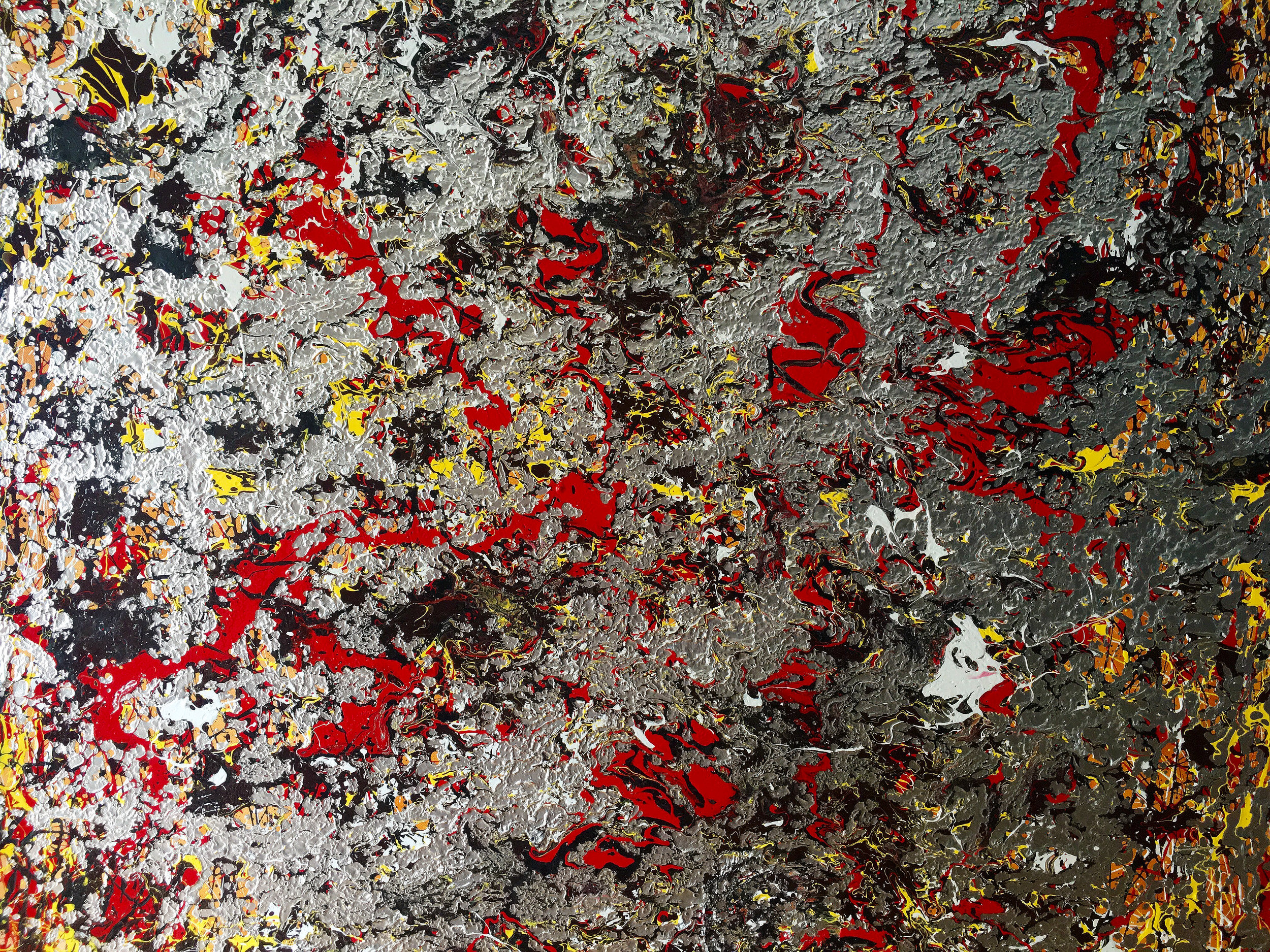 """""""Between the Voids"""" - acrylic and oil on canvas - 72"""" X 48"""""""