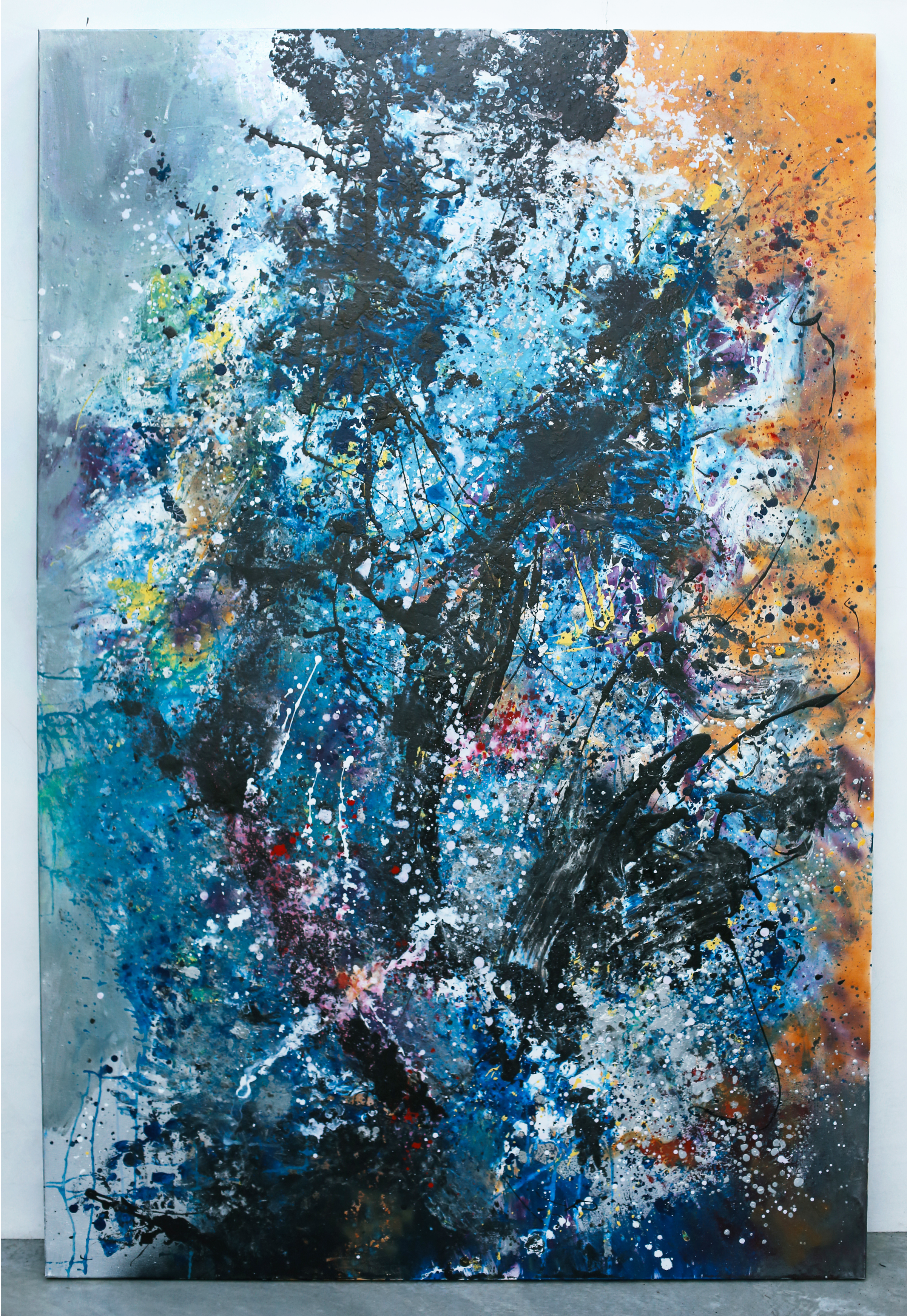 """Universe Expanding - 72""""X48"""" - Acrylic and Oil on Canvas"""