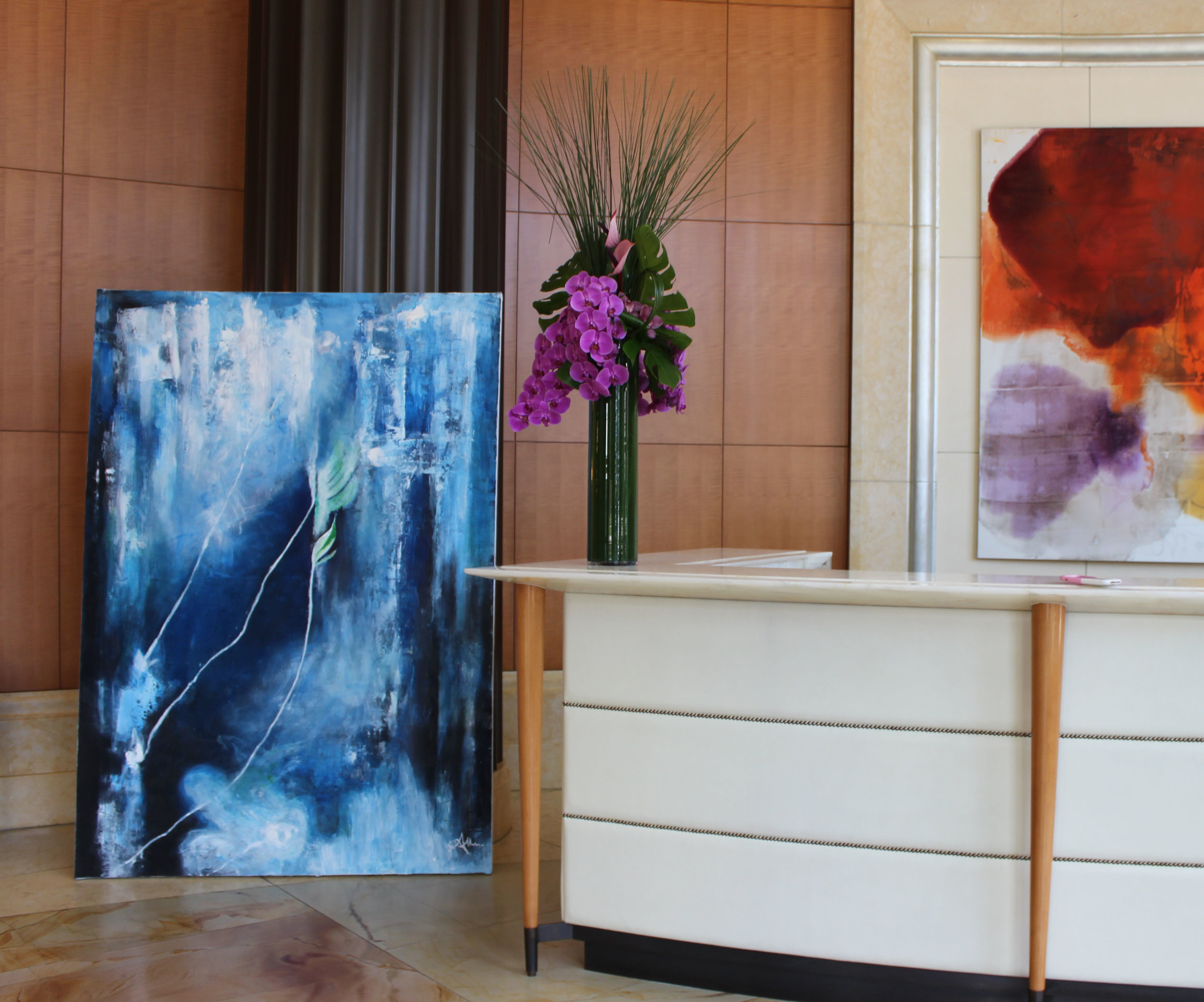 Abstract commission for celebrity dentist Dr. Bill Dorfman