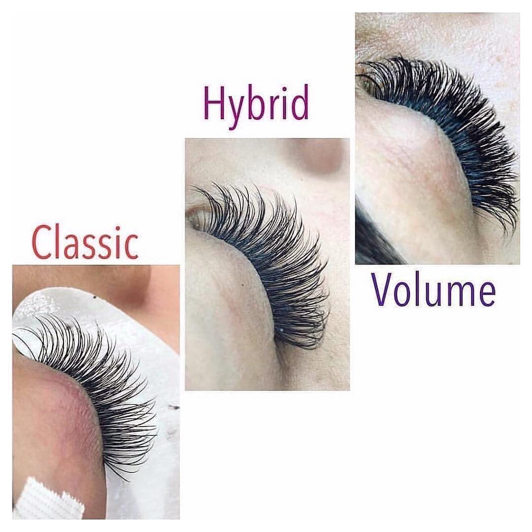 Lash Styles - Epo Beauty offers CLASSIC, HYBRID, and VOLUME lash extensions. Find out which style is best for you!CLASSICIf you're looking for a more natural look, then classic is the style for you! This style is the least dramatic you can get, but your lashes will still be noticeable and full. The classic lash set is for those who do not want overly dramatic lashes. Individual lashes are applied to your natural lashes at a one-to-one ratio.HYBRIDHybrid lash extensions are the perfect blend of full but subtle lashes. This style is not overwhelmingly intense, but it still gives your eyes that extra pop. Some lashes are applied to your natural lashes at a one-to-two or one-to-three ratio to achieve a more dramatic look than a classic set.VOLUMENow for ultimate volume! Of the three styles, volume lash extensions will give you the most dramatic, intense look. Most lashes are applied to your natural lashes at a one-to-many ratio to achieve the most voluminous, 3-dimensional look.