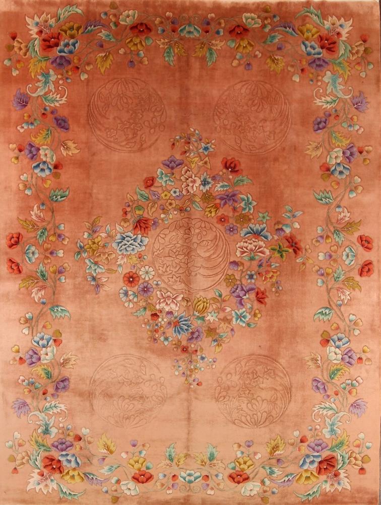 Anouska Tamony Boutique- Vintage Chinese Nichols' Style Art Deco Carpet- £2,500