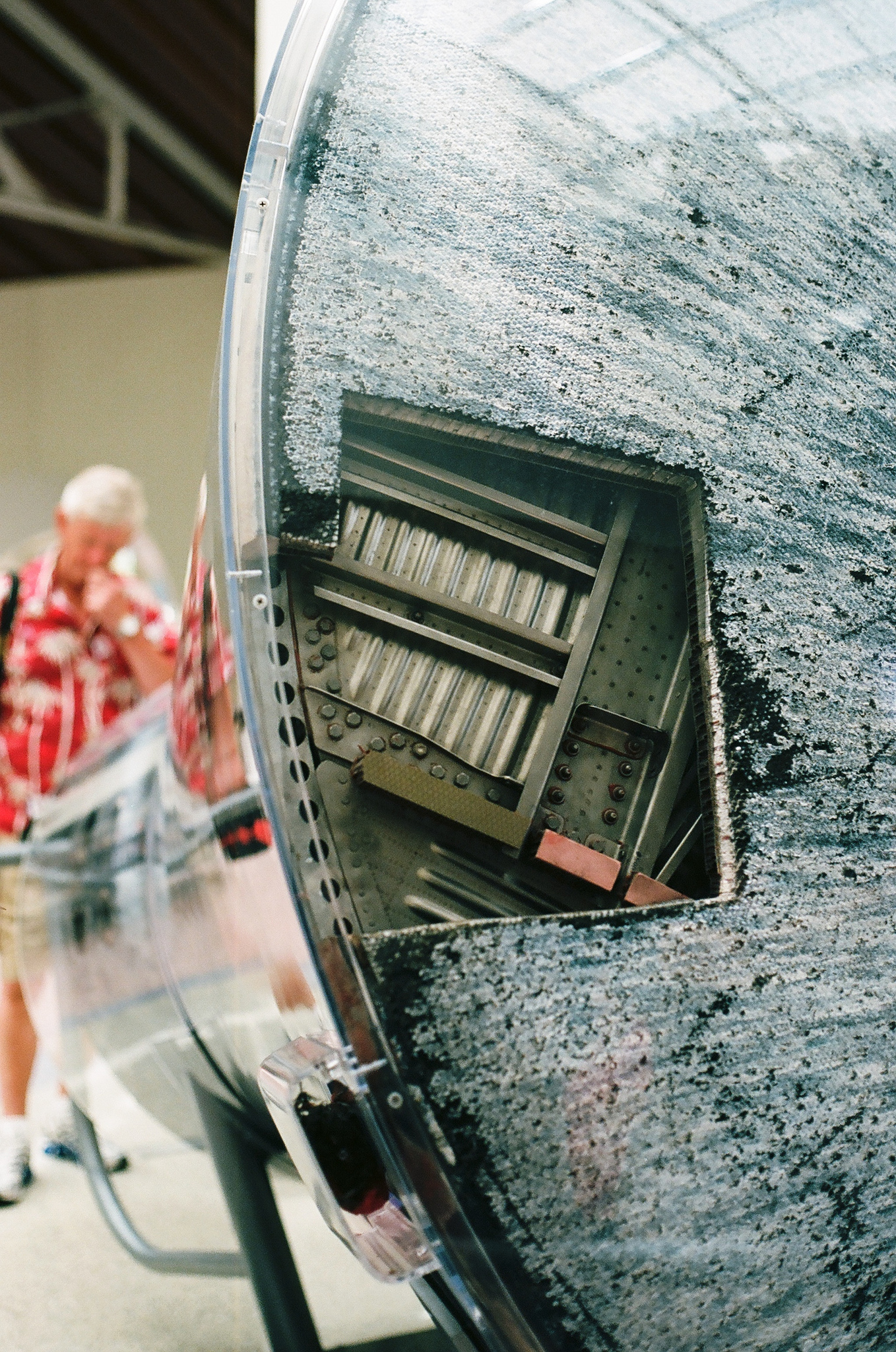 Ellingsen Photography Kodak Ektar Film California Science Center-Dad and Space Capsule